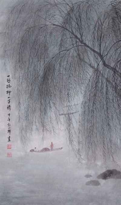 """""""一丝杨柳千丝恨,三分春色二分休""""_【元朝】_【薛昂夫】"""