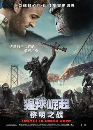 《猩球崛起2:黎明之战》电影好看吗?猩球崛起2:黎明之战影评及简介
